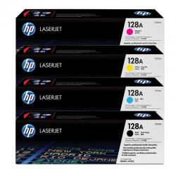 HP Pack 4 Cartouches Toner n°128A Noir Cyan Magenta Jaune