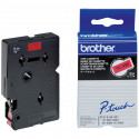 BROTHER Cassette ruban TC491 (7,7m) 9mm Noir/Rouge