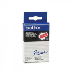 BROTHER Cassette ruban TC495 (7,7m) 9mm Blanc sur Rouge