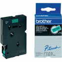 BROTHER Cassette ruban TC691 (7,7m) 9mm Noir/Vert