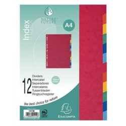 Intercalaires neutres Standard 12 Touches 22,5x30cmA4
