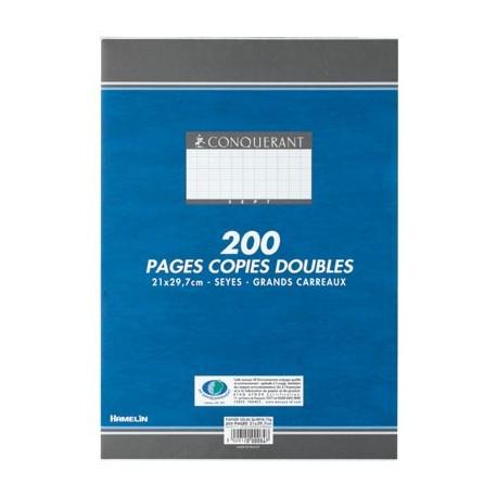CONQUERANT Copie double 50 feuilles A4