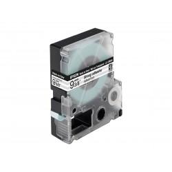 EPSON - LC3TBW9 Ruban adhésif Fort Noir/Transparent 9mm