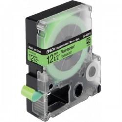 EPSON - LC4GBF9 ruban Noir/Vert eclairage fluorescent 12 mm