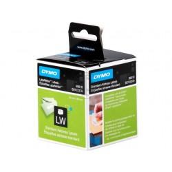 DYMO 2 Rouleaux de 130 étiquettes blanches adresse 28x89mm