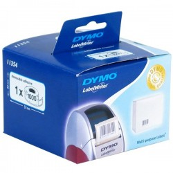 DYMO Rouleau de 1000 étiquettes blanches papier multi-usage 57x32mm