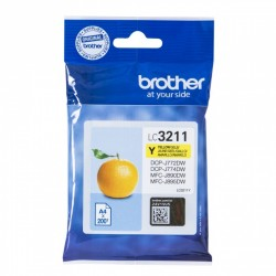 BROTHER Cartouche encre LC3211Y Jaune 200 pages