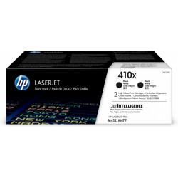 HP Pack 2 Cartouches toner 410X noir 2x 6 500 pages