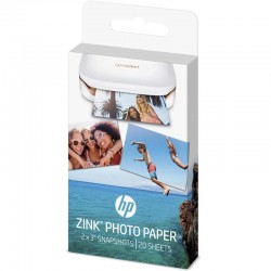 Papier Photo adhésif HP ZINK® 20 feuilles 5 x 7,6-cm (2 x 3-inch)