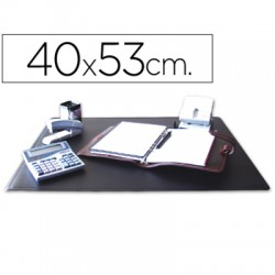 Q-CONNECT Sous-main noir en PVC 53x40 cm