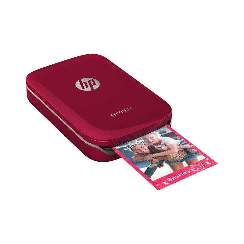 hp sprocket imprimante photo portable rouge. Black Bedroom Furniture Sets. Home Design Ideas