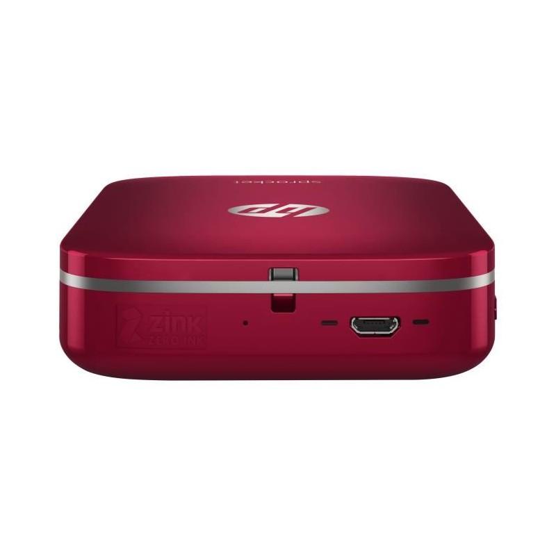 hp sprocket imprimante photo portable rouge. Black Bedroom Furniture Sets. Home Design Ideas