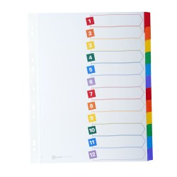 AVERY Intercalaires Mylar carte forte 12 touches format A4 maxi