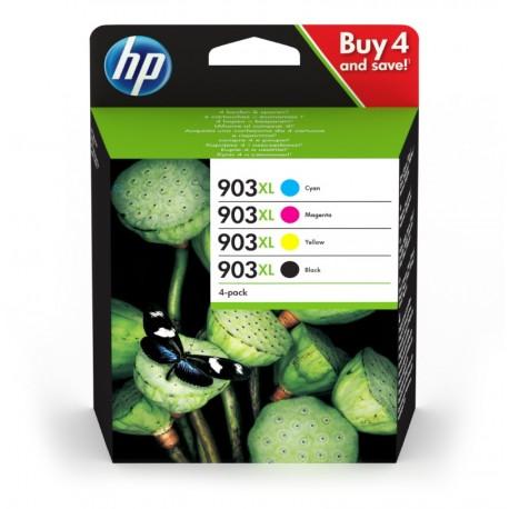 HP 953XL Pack de 4 cartouches d'encre (Noir, Cyan, Magenta, Jaune) authentiques (3HZ52AE)