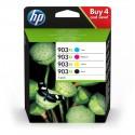 HP 903XL Pack de 4 cartouches d'encre (Noir, Cyan, Magenta, Jaune) authentiques (3HZ51AE)