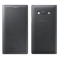 SAMSUNG Etui rigide avec rabat pour Galaxy A3 Noir