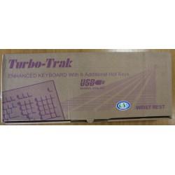 TURBO-TRACK Clavier Blanc avec repose poignet