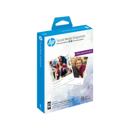 HP Papier photo adhésif Social Media Snapshots 25 feuilles