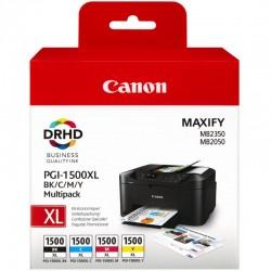 CANON Pack 4 cartouches encre PGI 1500XL BK/C/M/Y 3x12ml+1x34,7ml
