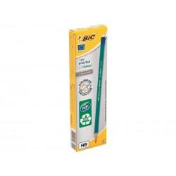 BIC Boîte de 12 crayons écolutions évolution bout gomme