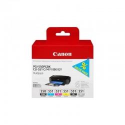 CANON Pack 6 cartouches PGI550/CLI551 (1*15ml+ 5*7ml)