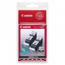 CANON Pack de 2 cartouches encre PGI-520BK Noir pigmenté 2x320 pages