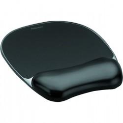 Fellowes Tapis de souris avec repose poignet en gel noir