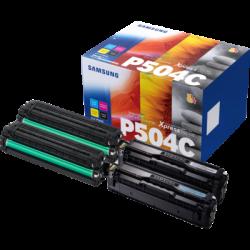 Samsung CLT-P504C Pack 4 cartouches Toner Noir + couleurs