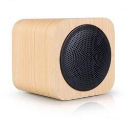 Enceinte Bluetooth Cube bois AVWOO