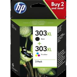 HP 303XL Pack 2 cartouches (noir + couleurs) grande capacité (3YN10AE)