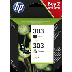 HP 303 Pack 2 cartouches (noir + couleurs) (3YM92AE)