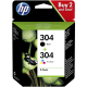 HP 304 pack 2 cartouches (noir + couleurs) - 3JB05AE