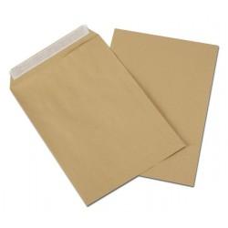 250 enveloppes pochette Kraft écologiques C4 90g auto-adhésives