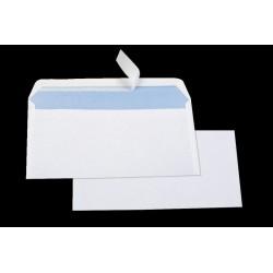 500 enveloppes blanches économiques DL 80 g auto-adhésives