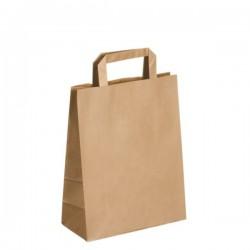 250 sacs kraft à poignée plate - Coloris Brun - 22x28x11cm