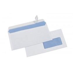 500 enveloppes blanches économiques DL fenêtre 45 auto-adhésives