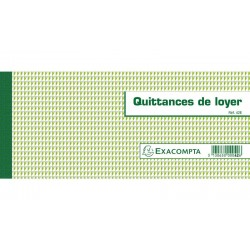 EXACOMPTA Carnet Quittances de loyer 16,5x10,1cm