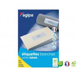APLI Boîte de 2400 étiquettes 70 x 37mm multi-usages blanche