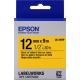 EPSON LK-4YBP Ruban 12mm x 9m noir sur jaune