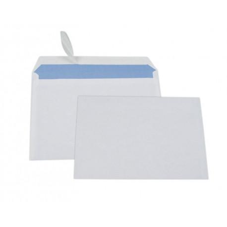 Boîte 500 enveloppes blanches économiques C6 fermeture auto-adhésive