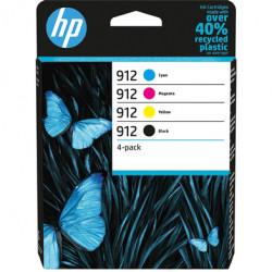 HP 912 Pack de 4 Cartouches authentiques (Noir,Cyan,Magenta,Jaune) (6ZC74AE)