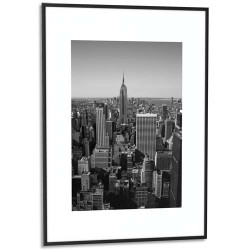 PAPERFLOW Cadre photo contour aluminium coloris Argent 60x80 cm