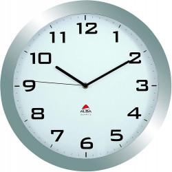ALBA Horloge murale Horissimo silencieuse grand format en métal - 38 cm