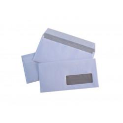 500 enveloppes blanches économiques auto-adhésives fenêtre 45