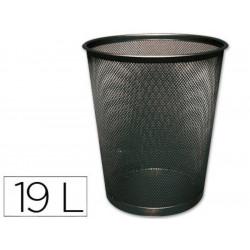 Q-CONNECT Corbeille métal 19 litres coloris Noir