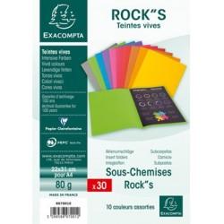 Lot de 30 sous-chemises rock's coloris assortis