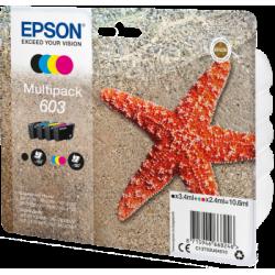 EPSON 603 Multipack Etoile de Mer (Noir, Cyan, Jaune, Magenta) 10,6ml (C13T03U64010)
