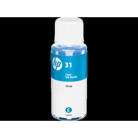 HP 31 Bouteille d'encre Cyan authentique (8000 pages - 70 ml)