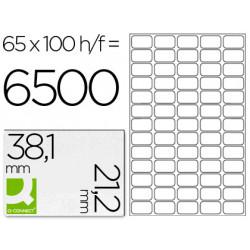 Q-CONNECT Boîte de 6500 étiquettes multi-usages blanches 38,1 x 21,2mm