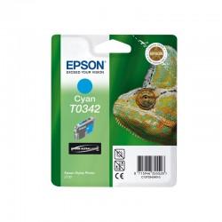 """EPSON Cartouche """"Caméléon"""" T0342 Encre UltraChrome Cyan 17ml"""